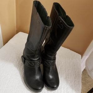 Dansko Black Leather Boots - size 38